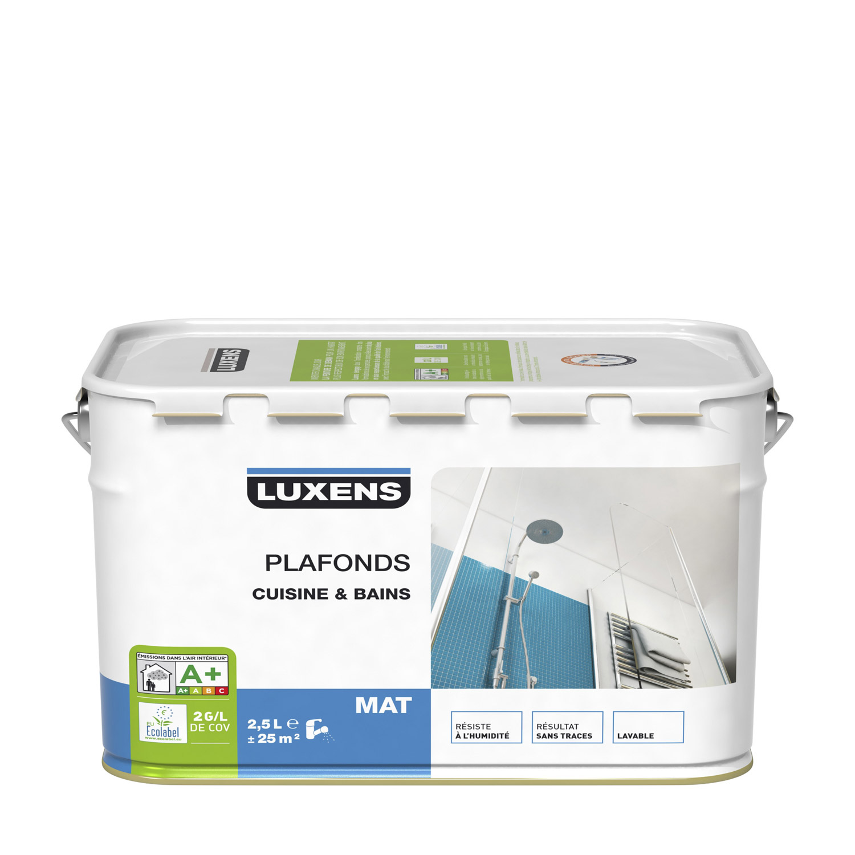 Peinture Murs Et Plafonds Cuisine Et Bains Luxens Blanc Mat